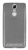 Lenovo Vibe K5 Note Ultra İnce Şeffaf Siyah Silikon Kılıf