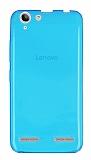 Lenovo Vibe K5 Ultra İnce Şeffaf Mavi Silikon Kılıf
