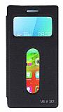 Eiroo Lenovo Vibe X2 Vantuzlu Pencereli Siyah Deri Kılıf