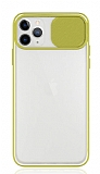 Eiroo Lens Series iPhone 11 Pro Sarı Silikon Kılıf