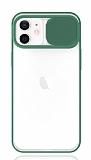 Eiroo Lens Series iPhone 12 / iPhone 12 Pro 6.1 inç Yeşil Silikon Kılıf