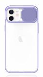Eiroo Lens Series iPhone 12 / iPhone 12 Pro 6.1 inç Mor Silikon Kılıf