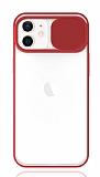 Eiroo Lens Series iPhone 12 / iPhone 12 Pro 6.1 inç Kırmızı Silikon Kılıf