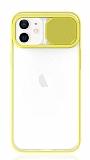 Eiroo Lens Series iPhone 12 / iPhone 12 Pro 6.1 inç Sarı Silikon Kılıf