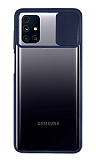 Eiroo Lens Series Samsung Galaxy M31s Lacivert Silikon Kılıf