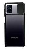 Eiroo Lens Series Samsung Galaxy M31s Siyah Silikon Kılıf