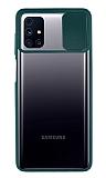 Eiroo Lens Series Samsung Galaxy M31s Yeşil Silikon Kılıf
