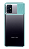 Eiroo Lens Series Samsung Galaxy M31s Turkuaz Silikon Kılıf