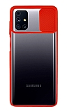 Eiroo Lens Series Samsung Galaxy M31s Kırmızı Silikon Kılıf