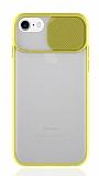 Eiroo Lens Series iPhone 7 / 8 Sarı Silikon Kılıf