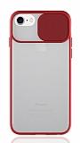 Eiroo Lens Series iPhone 7 / 8 Kırmızı Silikon Kılıf