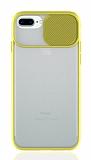 Eiroo Lens Series iPhone 7 Plus / 8 Plus Sarı Silikon Kılıf