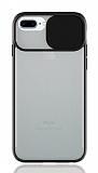Eiroo Lens Series iPhone 7 Plus / 8 Plus Siyah Silikon Kılıf