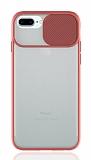 Eiroo Lens Series iPhone 7 Plus / 8 Plus Pembe Silikon Kılıf