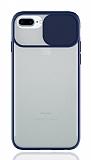 Eiroo Lens Series iPhone 7 Plus / 8 Plus Lacivert Silikon Kılıf