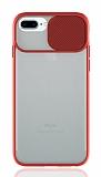 Eiroo Lens Series iPhone 7 Plus / 8 Plus Kırmızı Silikon Kılıf