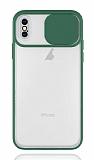 Eiroo Lens Series iPhone X / XS Yeşil Silikon Kılıf