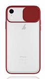 Eiroo Lens Series iPhone XR Kırmızı Silikon Kılıf