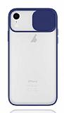 Eiroo Lens Series iPhone XR Lacivert Silikon Kılıf
