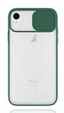 Eiroo Lens Series iPhone XR Yeşil Silikon Kılıf