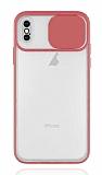 Eiroo Lens Series iPhone XS Max Pembe Silikon Kılıf