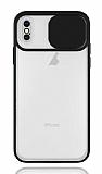Eiroo Lens Series iPhone XS Max Siyah Silikon Kılıf
