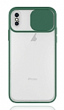 Eiroo Lens Series iPhone XS Max Yeşil Silikon Kılıf