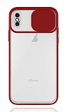 Eiroo Lens Series iPhone XS Max Kırmızı Silikon Kılıf