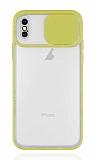 Eiroo Lens Series iPhone XS Max Sarı Silikon Kılıf