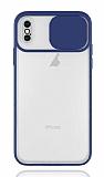 Eiroo Lens Series iPhone XS Max Lacivert Silikon Kılıf