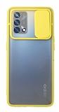 Eiroo Lens Series Oppo F19 Sarı Silikon Kılıf