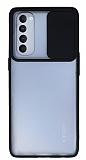 Eiroo Lens Series Oppo Reno4 Pro Siyah Silikon Kılıf