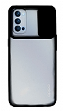 Eiroo Lens Series Oppo Reno4 Siyah Silikon Kılıf