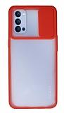 Eiroo Lens Series Oppo Reno4 Kırmızı Silikon Kılıf
