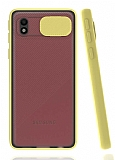 Eiroo Lens Series Samsung Galaxy A01 Core Sarı Silikon Kılıf