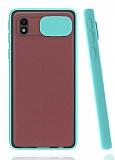 Eiroo Lens Series Samsung Galaxy A01 Core Turkuaz Silikon Kılıf