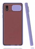 Eiroo Lens Series Samsung Galaxy A01 Core Mor Silikon Kılıf