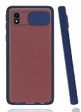 Eiroo Lens Series Samsung Galaxy A01 Core Lacivert Silikon Kılıf