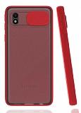Eiroo Lens Series Samsung Galaxy A01 Core Kırmızı Silikon Kılıf