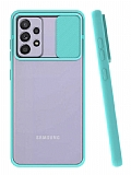 Eiroo Lens Series Samsung Galaxy A72 Turkuaz Silikon Kılıf