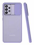 Eiroo Lens Series Samsung Galaxy A72 Mor Silikon Kılıf