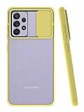 Eiroo Lens Series Samsung Galaxy A72 Sarı Silikon Kılıf