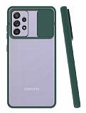 Eiroo Lens Series Samsung Galaxy A72 Yeşil Silikon Kılıf