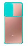 Eiroo Lens Series Samsung Galaxy Note 20 Ultra Turkuaz Silikon Kılıf