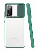 Eiroo Lens Series Samsung Galaxy S20 FE Yeşil Silikon Kılıf