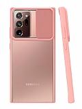Eiroo Lens Series Samsung Galaxy Note 20 Ultra Pembe Silikon Kılıf