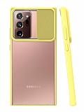 Eiroo Lens Series Samsung Galaxy Note 20 Ultra Sarı Silikon Kılıf