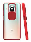 Eiroo Lens Series Xiaomi Redmi Note 9 Pro 5G Kırmızı Silikon Kılıf