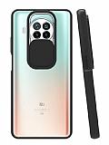 Eiroo Lens Series Xiaomi Redmi Note 9 Pro 5G Siyah Silikon Kılıf