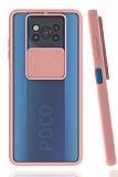 Eiroo Lens Series Xiaomi Poco X3 Pembe Silikon Kılıf